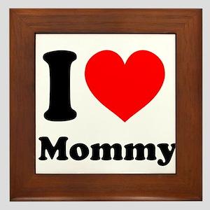 I Heart Mommy Framed Tile