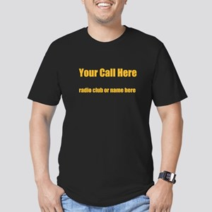 Personalized Call Sign Men's Fitted T-Shirt (dark)
