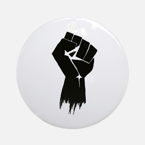 Rough Fist Ornament (Round)