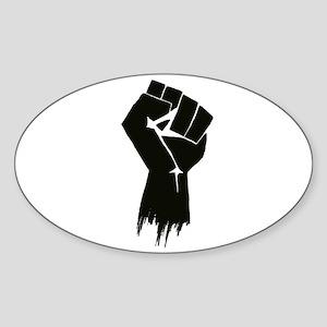 Rough Fist Sticker (Oval)