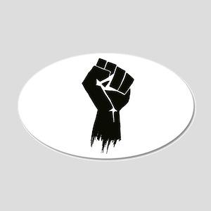 Rough Fist 22x14 Oval Wall Peel