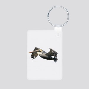 Pelican Flying Aluminum Photo Keychain