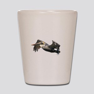 Pelican Flying Shot Glass