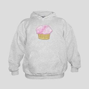Pink Sugar Cupcake Kids Hoodie