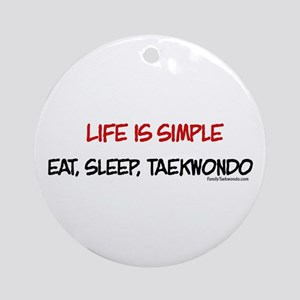 Life is Simple Ornament (Round)