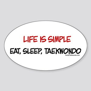 Life is Simple Oval Sticker