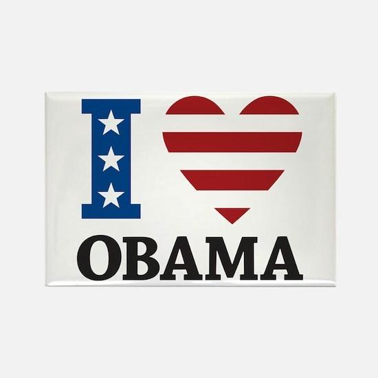 I Love Obama Rectangle Magnet