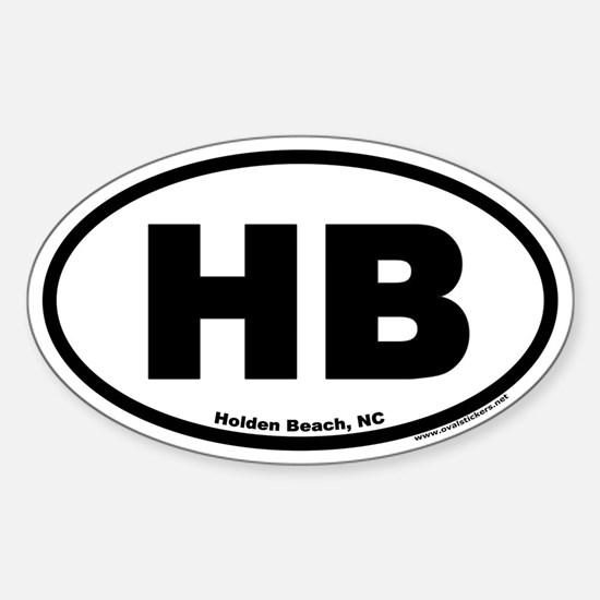 Holden Beach HB Euro Oval Decal