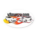 v8monza logo Oval Car Magnet