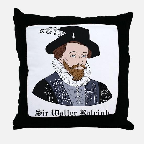 Sir Walter Raleigh Throw Pillow