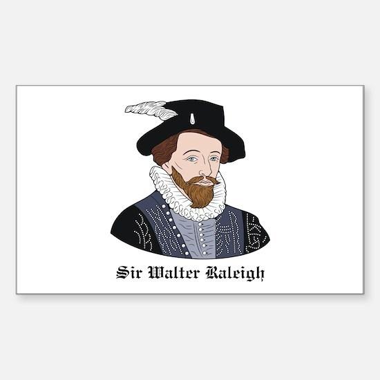 Sir Walter Raleigh Rectangle Decal