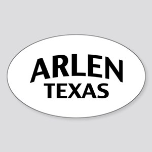 Arlen Texas Sticker (Oval)