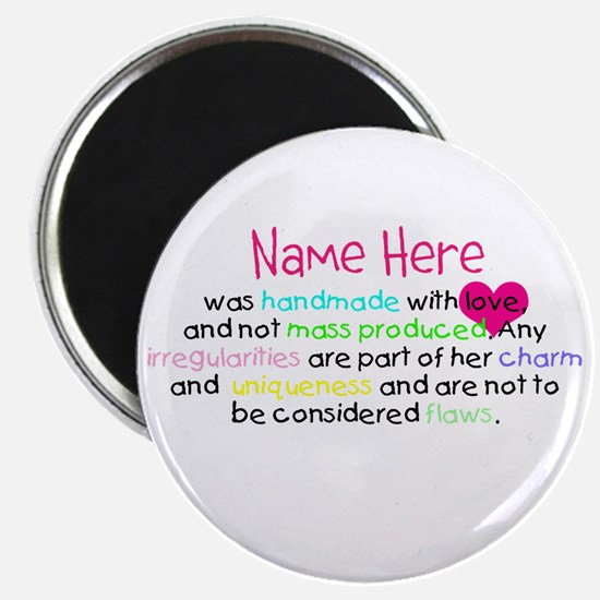 Customised Handmade With Love Magnet