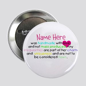 """Customised Handmade With Love 2.25"""" Button"""
