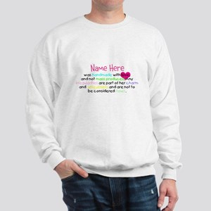 Customised Handmade With Love Sweatshirt