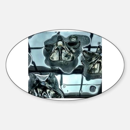 Cute Shades of grey Sticker (Oval)