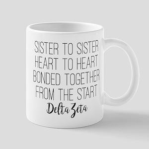 Delta Zeta Sister to Sister 11 oz Ceramic Mug