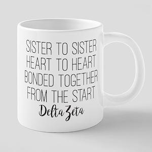 Delta Zeta Sister to Sister 20 oz Ceramic Mega Mug