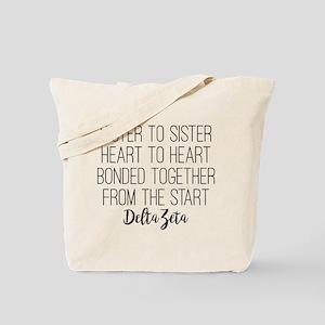 Delta Zeta Sister to Sister Tote Bag