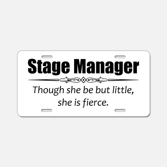 Stage Manager Aluminum License Plate