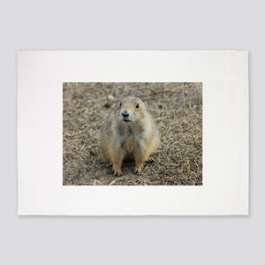 Prarie Dog Town 5'x7'Area Rug