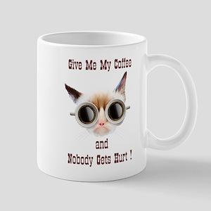 Grumpy Coffee Cat 11 oz Ceramic Mug