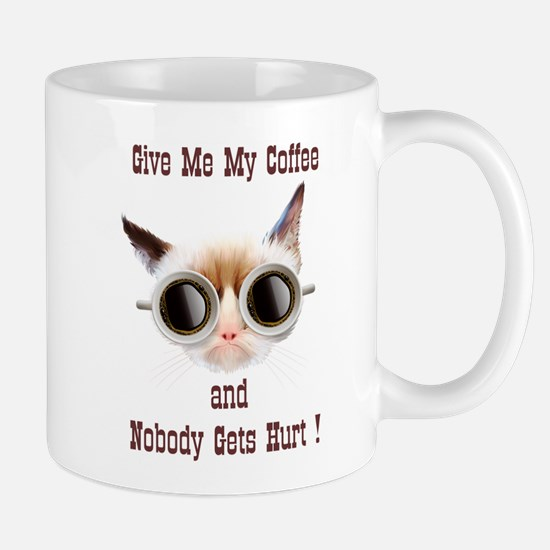 Grumpy Coffee Cat Mug
