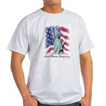 Statue of Liberty t-shirt--ash grey