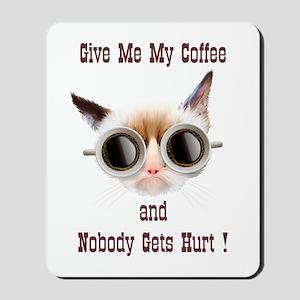 Grumpy Coffee Cat Mousepad