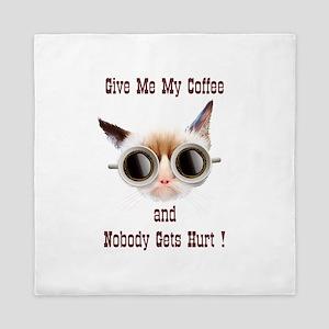 Grumpy Coffee Cat Queen Duvet