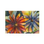 Bright Colored Daisies Rectangle Magnet