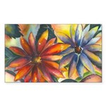 Bright Colored Daisies Rectangle Sticker