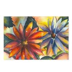 Bright Colored Daisies Postcards (Package of 8)
