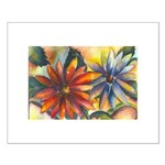 Bright Colored Daisies Small Poster