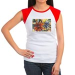 Bright Colored Daisies Women's Cap Sleeve T-Shirt