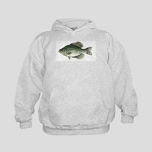 Black Crappie Fish Kids Hoodie