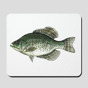 Black Crappie Fish Mousepad