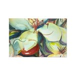 Floral Abstracts Rectangle Magnet