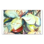 Floral Abstracts Rectangle Sticker