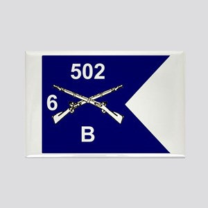 B Co. 6/502nd Rectangle Magnet