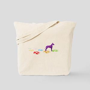 Great Dane Pawprints Tote Bag