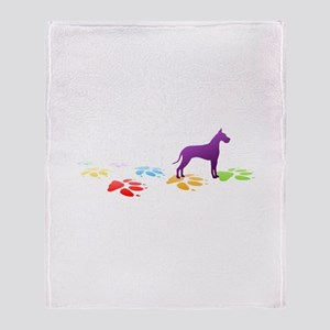 Great Dane Pawprints Throw Blanket