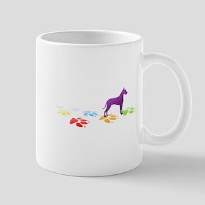 Great Dane Pawprints Mug