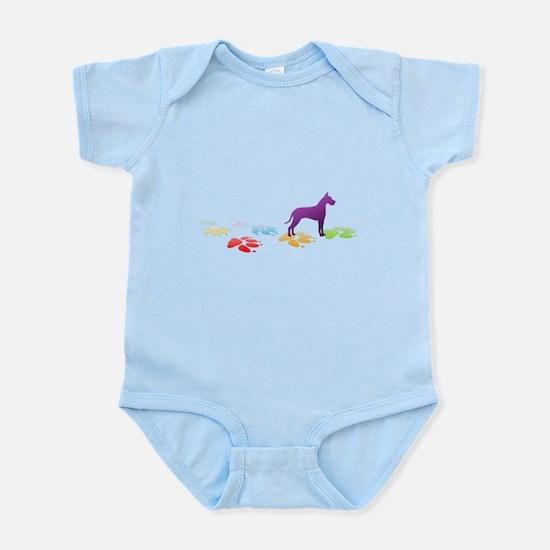 Great Dane Pawprints Infant Bodysuit