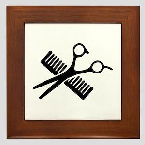 Comb & Scissors Framed Tile