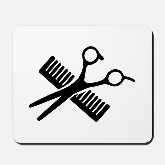 Comb & Scissors Mousepad