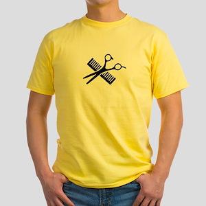 Comb & Scissors Yellow T-Shirt