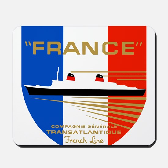 French Line 1 Mousepad