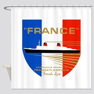 French Line 1 Shower Curtain