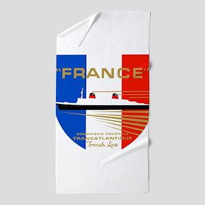 French Line 1 Beach Towel